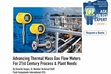 Advancing Thermal Mass Gas Flow Meters For 21st Century Process & Plant Needs
