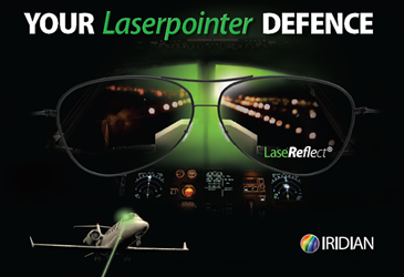 New Low Pricing For Iridian High-Performance LaseReflect Aviator LRG13 Glasses