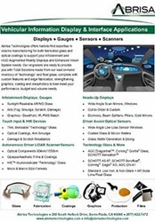 New Abrisa Technologies Data Sheet: Coated Glass Solutions For In-Vehicle Infotainment Displays & Driver Assist Sensing