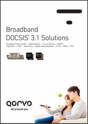 Qorvo Broadband DOCSIS 3.1 Solutions