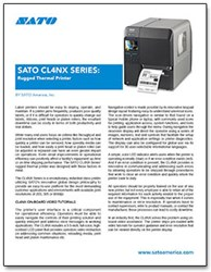 SATO CL4NX Series: Rugged Thermal Printer