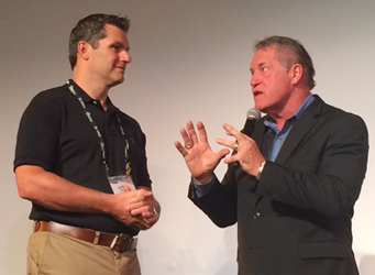 VARTECH 2015 Keynote, Mark Scharenbroich (r) with ChannelEyes CEO, Jay McBain (l)