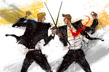 Businessmen-Sword-Fight-Battle