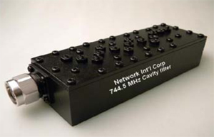 744 5 MHz Cavity Filter for LTE Base Station Applications