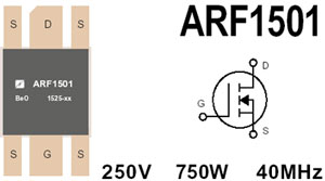 ARF1501 RF Power MOSFET