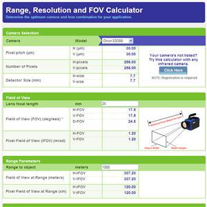 Calculator: Determine The Optimum Detector And Lens Combination For