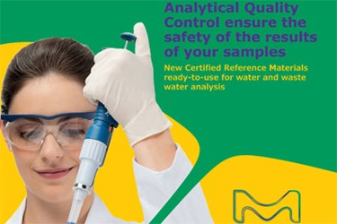 New Certified Reference Materials Ready-To-Use For Water And Wastewater Analysis