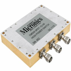 High Power SPDT Reflective Switch For 1 GHz – 1.1 GHz Applications: CMSW-SPDTR-1G-5K