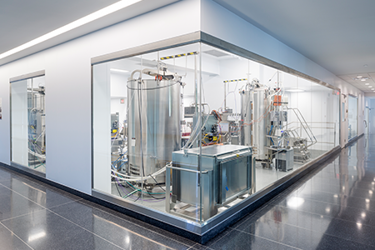 AES Infinity Glass Cleanroom Wall System