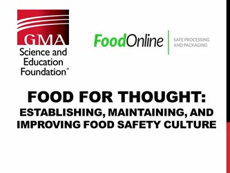 FSMA Food For Thought