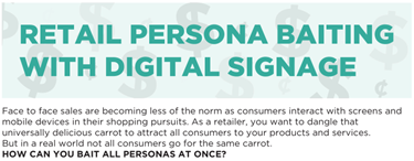 Digital Signage Can Target Consumer Types