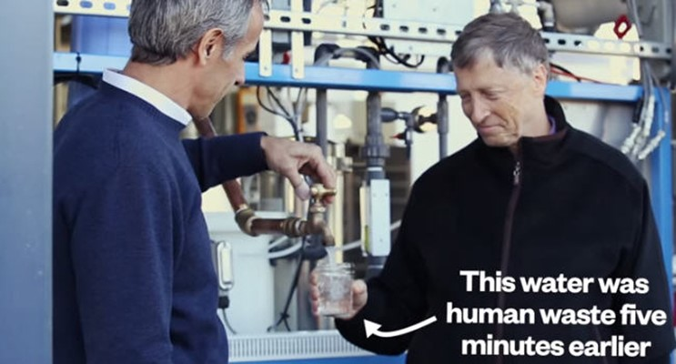 Bill Gates Drinks Poop Water, Serves Notice