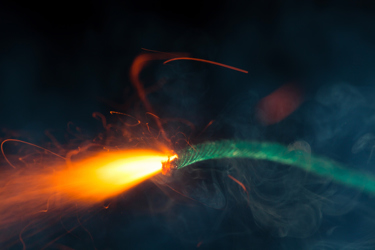 Burning fuse with sparks