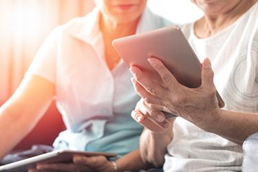 Telehealth virtual ipad elderly