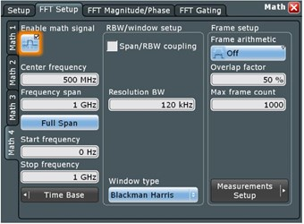 Oscilloscope screen shot