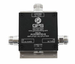 Amplified 1x2 GPS Splitter: ALDCBS1X2