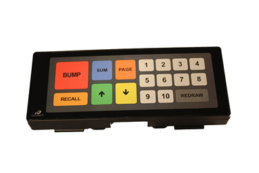 KB9000 Fully Programmable Bump Bar Keypad With Touch Operations