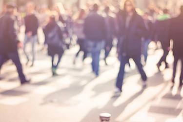 Pedestrians in Crowd 450x300