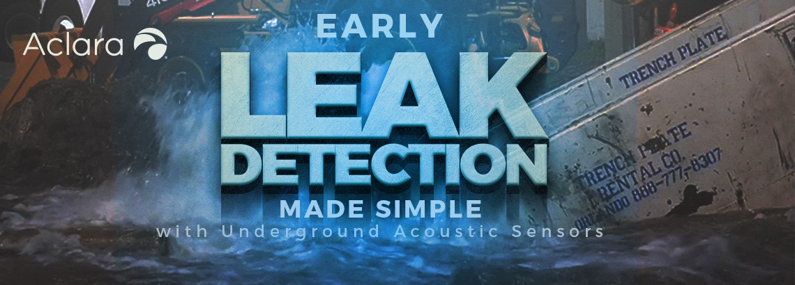 Early Leak Detection Made Simple With Underground Acoustic Leak-Detection