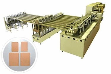 Adhesive Bandage : Die-Cutting, Stacking, Packing, And Inspection Line