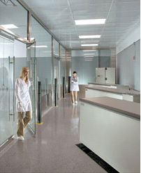 Cleanroom Or Laboratory Barrier Walls And Panels