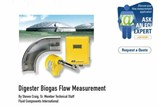 Digester Biogas Flow Measurement