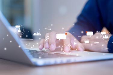 laptop computer messaging