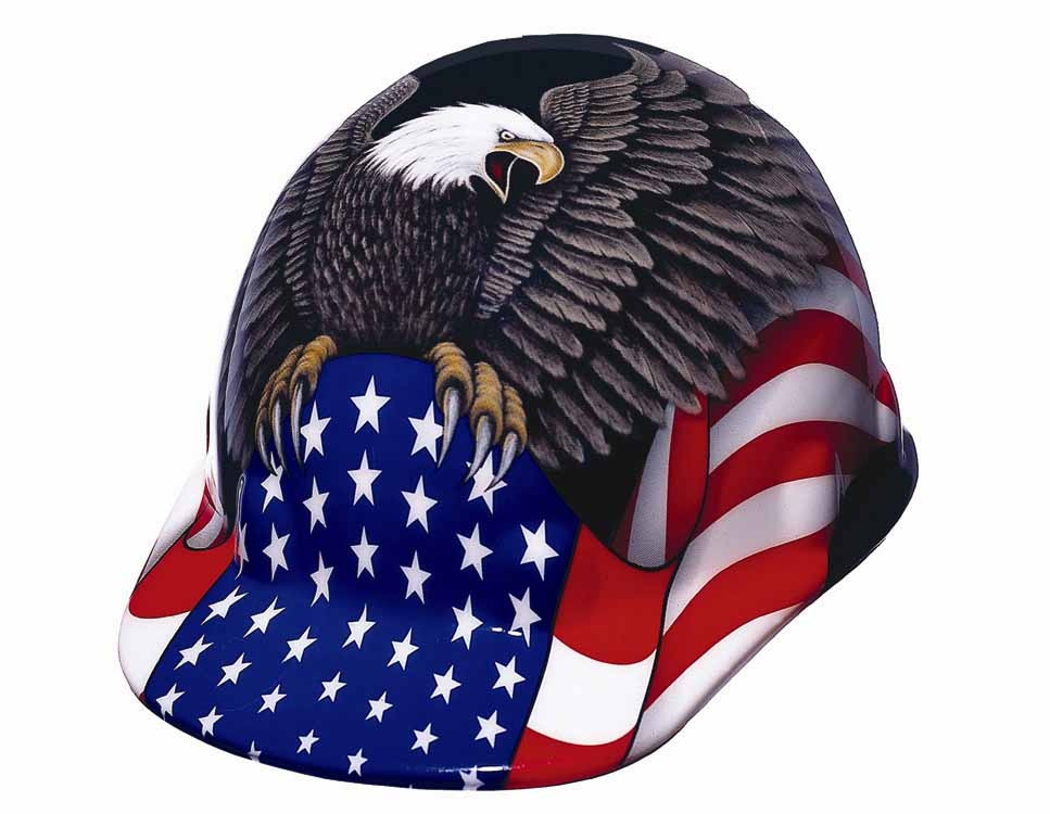 Full Graphic Spirit Of America Hard Hats By Fibre Metal