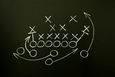 Sport-Football-Team-Play-Diagram-iStock-122040763