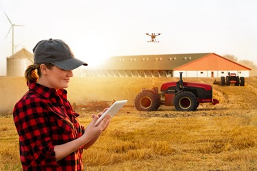 Customer Self Service Field Farmer Drone