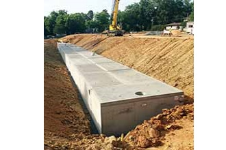 17000 Cubic Foot Stormwater Detention And Sand Filter