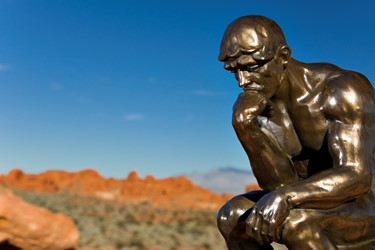 Rodin's Thinker at Sandstone Valley