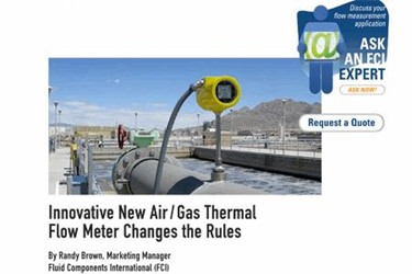 Innovative New Air / Gas Thermal Flow Meter Changes The Rules