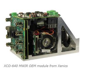 XCO-640 MWIR OEM module from Xenics
