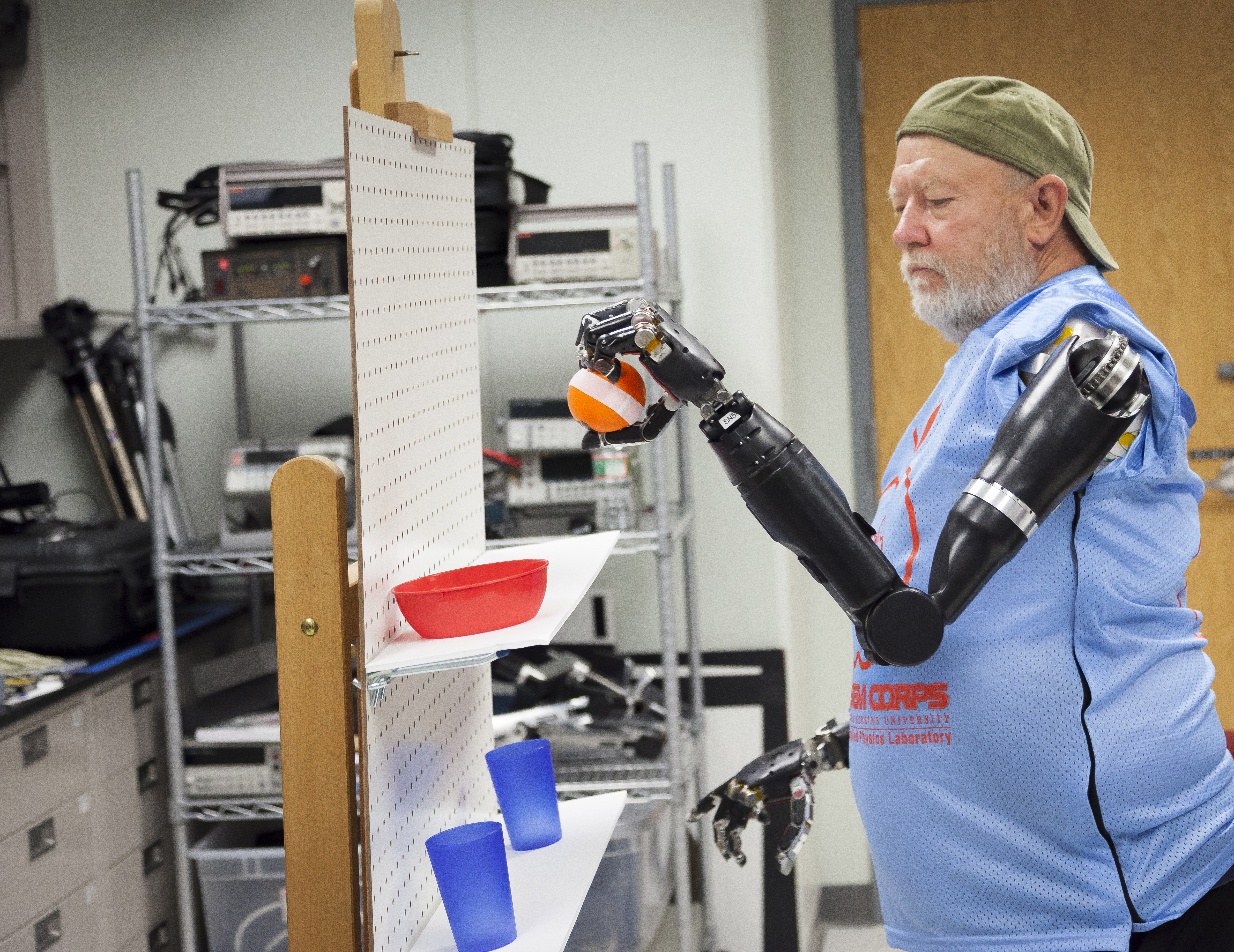 Double Amputee Is First To Control Two Robotic Arms Simultaneously