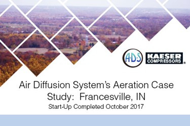 Air Diffusion System Helps Francesville's With New Aeration System