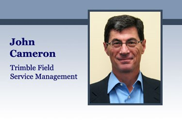 John Cameron, general manager of Trimble Field Service Management