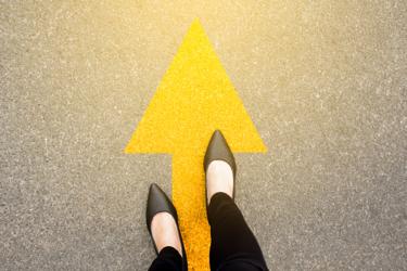 Arrow Walking Path Forward