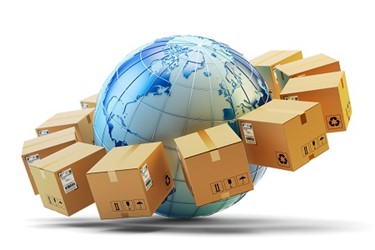 global worldwide supply chain shipping package