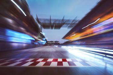 Car Racing Finish Line